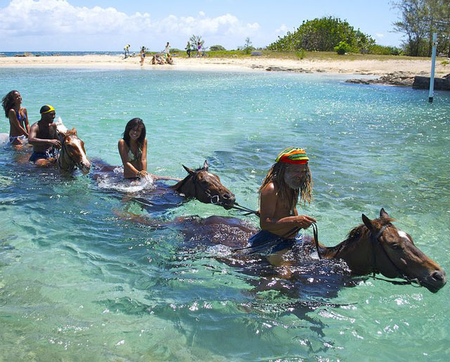 Riding In The Sea - Jamaica