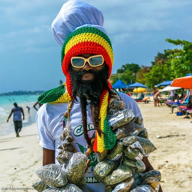local herbs man in jamaica